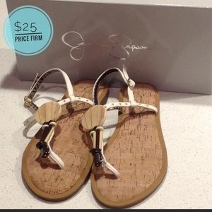 TODAY ONLY!! Jessica Simpson Sandals Cork Jewels